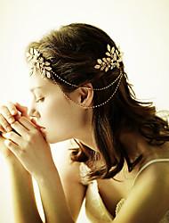 Недорогие -сплав тиары цветы головная цепь головной убор классический женский стиль