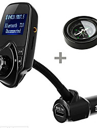 cheap -T10 Car Kit Handsfree FM Transmitter Car MP3 Audio Player with LCD Display USB 5V 2.1A Charger Support TF Card