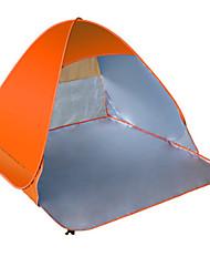Недорогие -2 человека Световой тент Один экземляр Палатка Однокомнатная Тент для пляжа Ультрафиолетовая устойчивость Дожденепроницаемый Защита от