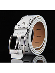 cheap -Unisex Alloy Waist Belt,Brown White Black Red Yellow Vintage Casual Fashion