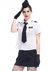 cheap -Women's White Colour Halloween Costume Cosplay