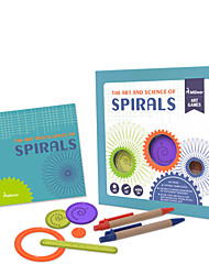 cheap -Montessori Teaching Tool Spirograph Design Ruler Art & Drawing Toy Square Painting Education Fun Children's