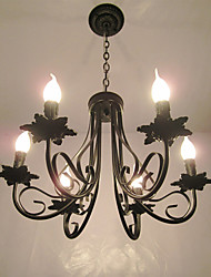 cheap -European Style Simplified Chandelier  Bedroom Restaurant  Wrought Iron Candle Lamp Living Room Lamp Decorative Lamp
