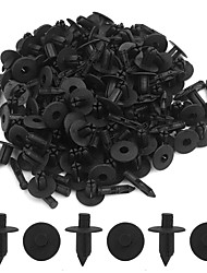 ZIQIAO 100pcs Auto Car Hole Plastic Rivets Fastener Bumper Door Push Pin Trim Clips Black