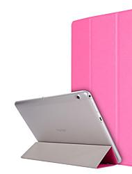 Недорогие -Кейс для Назначение Huawei Чехол планшетный случаи Однотонный Твердый Кожа PU для