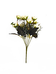 1 Branch Others Roses Tabletop Flower Artificial Simulation Flowers Living Room Decoration 6 Big Head 3 Small Head