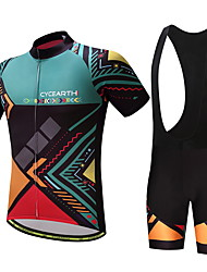 Недорогие -Муж. Велокофты и велошорты-комбинезоны - Зеленый Велоспорт Наборы одежды С узором