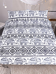 Animals 3 Piece Reactive Print 3pcs (1 Duvet Cover, 2 Shams)