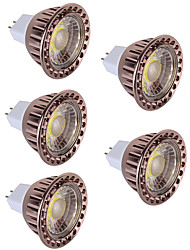 cheap -5pcs 5W LED Spotlight MR16 COB Spotlight Warm/Cool White Decorative LED lampada lamp Light DC12V