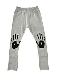 Boys' Pants-Cotton Spring Fall Palm Prints 2017 New Kids Boys Leggings Pants Gray Black Long Pants Children Clothes
