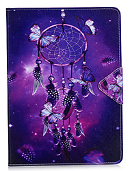billige -Cover til ipad pro 10.5 ipad (2017) kortholder lommebok med stativ flip hele krops case dream catcher hard pu læder til ipad pro 9.7 air2