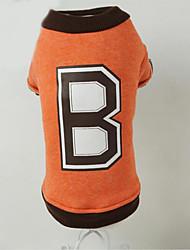 preiswerte -Hund Pullover Hundekleidung Lässig/Alltäglich Buchstabe & Nummer Orange Rot Blau Kostüm Für Haustiere