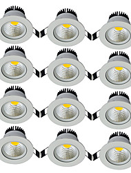 cheap -12pcs/lot Round Recessed LED Downlight AC 85-265V COB LED Spot Lamp 7W Angle Adjustable Ceiling Downlight for Home/Office