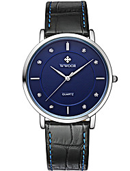 WWOOR Women's Sport Fashion Business Wristwatch Unique Creative Casual Watches Quartz Genuine Leather Hodinky Hours Relogio Masculino Feminino Clock