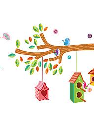 economico -Animali Moda Botanica Adesivi murali Adesivi aereo da parete Adesivi decorativi da parete Adesivi misura altezza, Plastica Decorazioni