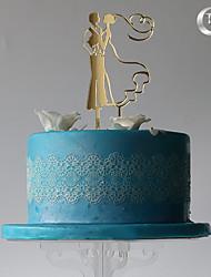 economico -cake topper classic coppia plastica con sacchetto in pvc ricevimento di nozze