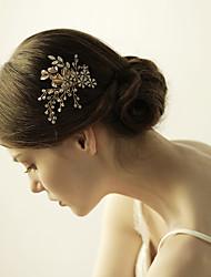 economico -pettini di fiori in lega di cristallo fiori copricapo classico stile femminile