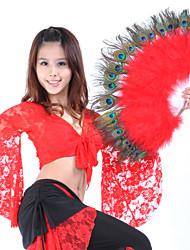economico -Danza del ventre Forniture da palcoscenico Per donna Esibizione Piume Piume 1 pezzo