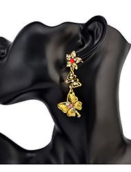 Women's Drop Earrings Rhinestone Basic Unique Design Dangling Style Pendant Rhinestones Friendship Classic Personalized Elegant Hip-Hop