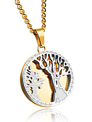 The tree of life man necklace Ambition to restore ancient ways round titanium steel pendant hang act the role ofing is tasted
