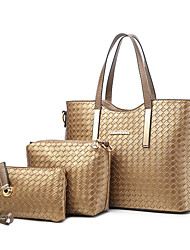 cheap -Women Bags Cotton Bag Set 3 Pcs Purse Set Zipper for Wedding Event/Party Casual Sports Formal Outdoor Office & Career All Seasons Black