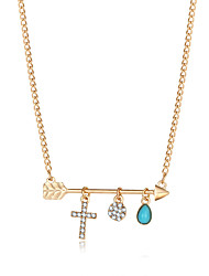 Women's Pendant Necklaces Cross Alloy Cross Jewelry For Wedding Party Daily Casual