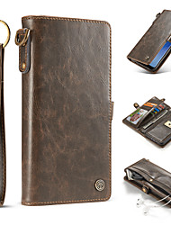 cheap -Case For Samsung Galaxy S8 S8 Plus Luxury Detachable 2-in-1 Split Genuine Leather Wallet Phone Case