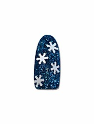1g/Bottle Fashion Christmas DIY Decoration Sweet Style Nail Art White Snowflake 3D Thin Slice DIY Beauty Design Nail Art Salon Crafts