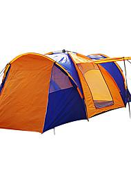 baratos -> 8 pessoas Tenda Duplo Barraca de acampamento Quatro Quartos Barracas para Acampamento Família Prova-de-Água A Prova de Vento Á