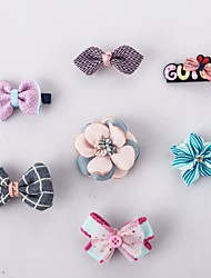 7PK New Dog Hair Bows Topknot Solid Small Bowknot with Clip Top Quality Pet Grooming Products Mix Designs Pet Hair Bows Dog Hair Accessories
