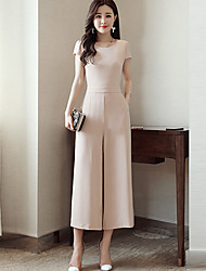 Women's Work Casual/Daily Jumpsuits,Simple Relaxed Fashion Summer