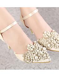 Damen Schuhe Echtes Leder PU Frühling Sommer Pumps High Heels Für Normal Schwarz Mandelfarben