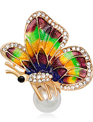 cheap -Women's Girls' Brooches Unique Design Handmade Euramerican Fashion Adorable Rhinestone Alloy Animal Assorted Color Jewelry For Special