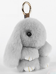Bag / Phone / Keychain Charm Cartoon Toy Rex Rabbit Fur