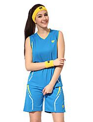 בגדי ריקוד נשים ללא שרוולים כדורסל מדים בסטים מכנסיים קצרים עמיד בפני שחיקה ספורט