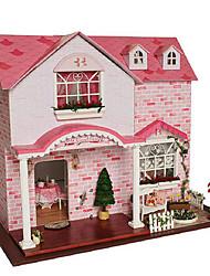 cheap -CUTE ROOM Model Building Kit Toys DIY House Plastics Classic Pieces Unisex Birthday Gift