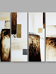 cheap -Oil Painting Hand Painted - Abstract Artistic Canvas Three Panels