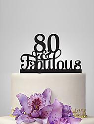 economico -cake topper classic theme anniversary anniversary con poly bag ricevimento di nozze