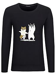 billige -Rund hals Herre - Dyr Bomuld Kineseri Plusstørrelser T-shirt