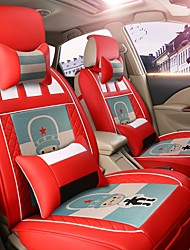 Car Seat Cushion Car Seat Cover Family Car Leather Seat Cover Four General--Argentina Red