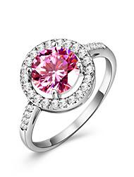 preiswerte -Damen Ring Synthetischer Rubin Kubikzirkonia Klassisch Elegant Synthetische Edelsteine Kubikzirkonia Kreisförmig Modeschmuck Hochzeit