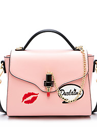cheap -Women Bags PU Tote Chain Embroidered for Wedding Event/Party Casual Sports Formal Outdoor Office & Career All Seasons White Blushing Pink