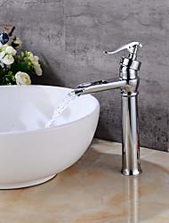 Installazione centrale Cascata with  Valvola in ceramica Uno for  Cromo , Lavandino rubinetto del bagno