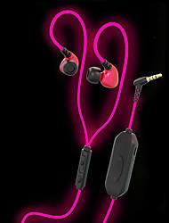 Jiefangzhe q10 glühend in den dunklen Ohrhörern glänzende und helle Version mit mic Sport laufen Joggen