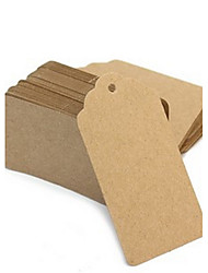 50 pcs marron papier kraft tag 9.5 * 4.5 cm / pcs diy mariage faveur beter gifts® pratique bricolage merci tag