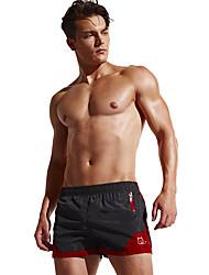 billige -Herre Løbeshorts - Sort, Marine, Mørk Navy Sport Farveblok Shorts Sportstøj Åndbart, Bekvem