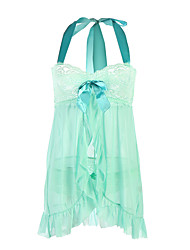 cheap -Women's Babydoll & Slips Nightwear Solid - Translucent Light Green