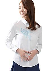Blusa/Camisa Lolita Clássica e Tradicional Lolita Cosplay Vestidos Lolita Estampado Manga Longa Lolita Blusa Para Tecido de Algodão