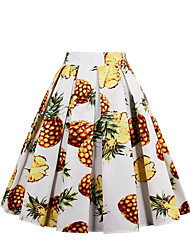 cheap -Women's Going out Active A Line Skirts - Geometric, Print