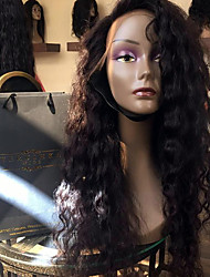 2017 Hot Selling Lace Front Human Hair Wigs Natural Wave for Black Woman 150% Density Brazilian Virgin Hair Glueless Lace Wig with Baby Hair